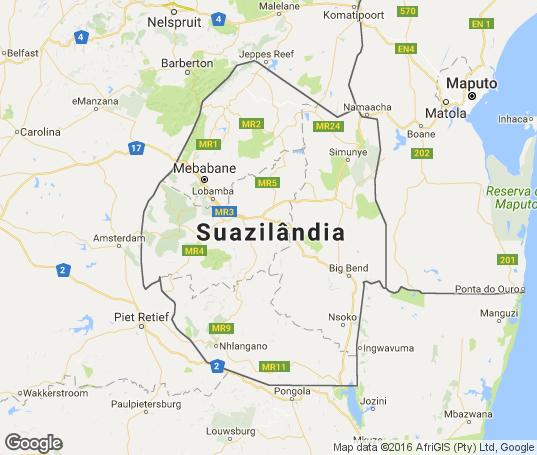 Suazilândia Mapa