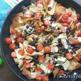 Quick Rotisserie Chicken and Brie Nachos.