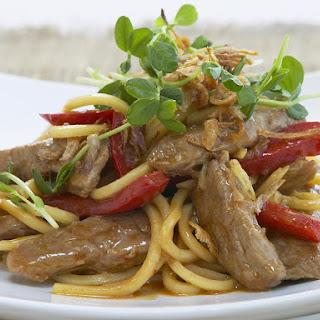 Pork and Hoisin Noodle Stir-Fry
