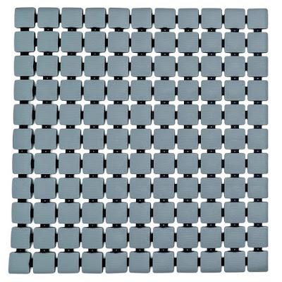 Коврик для ванной комнаты Ridder Nevis серый 54х54 см