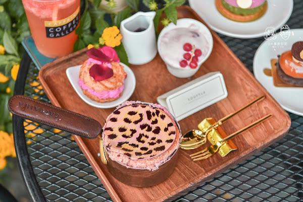 卡啡那caffaina coffee gallery大墩店:台中南屯區美食-新品可可露比舒芙蕾,讓女孩們尖叫的粉色豹紋下午茶甜點!