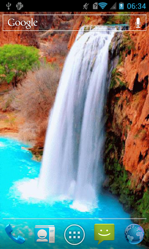 Cyan waterfall Live WP