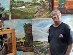 Photo: This 40 year resident of the kibbutz showed us around his art studio.  Originally from England, he said England is now too fast paced for him and he prefers life in the kibbutz.  He said the kibbutz now has about 200 residents, down from a one-time high of about 250.