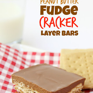 Peanut Butter Fudge Cracker Layer Bars