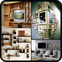 TV Book Wall Shelf Furnitures Decorating DIY Ideas icon