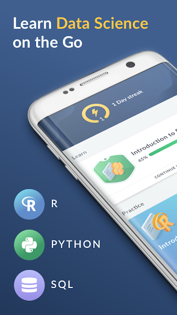 DataCamp - Learn R, Python & SQL coding Android App Screenshot