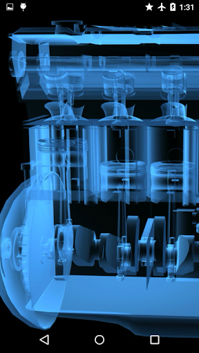 Transparent Engine Wallpaper