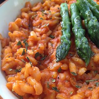 Tomato & Asparagus Risotto