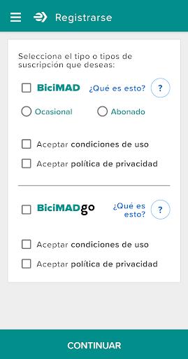 BiciMAD screenshot 1