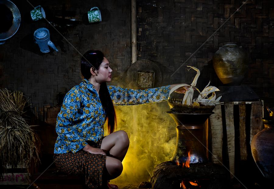 Cooking by Pimpin Nagawan - People Portraits of Women ( human )