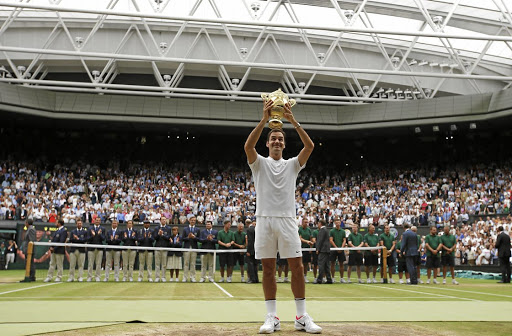 Roger that:    Roger  Federer  savours his  historic  victory over  Marin Cilic.  Reuters