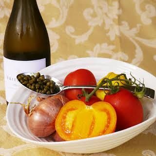 Tomato White Wine Caper Sauce.