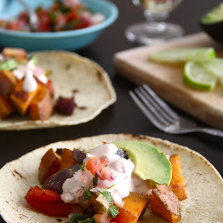 Sweet Potato Tacos with Chipotle Cream