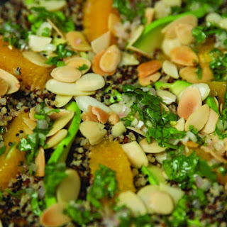 Quinoa Salad with Avocado, Orange, and Toasted Almonds.