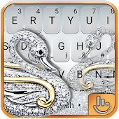 Silver Swan Keyboard Theme