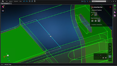 Photo: MSC Apex is used to resolve free edges. Specifically, the interactive vertex/edge drag tools lets you click and drag edges or vertices into place.