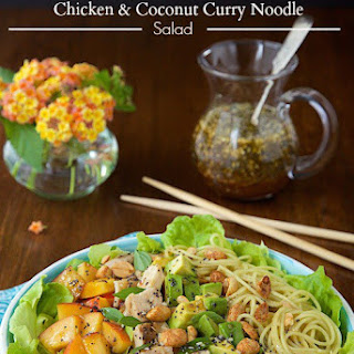 Asian Chicken and Coconut Curry Noodle Salad.