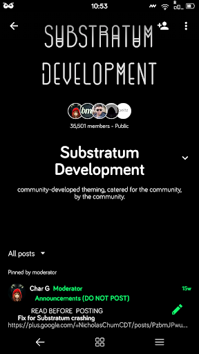 Dark Material Substratum Theme  screenshots 3