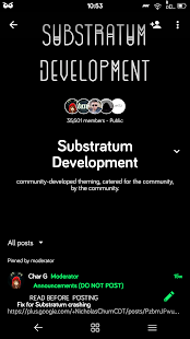 Dark Material Substratum Theme Screenshot