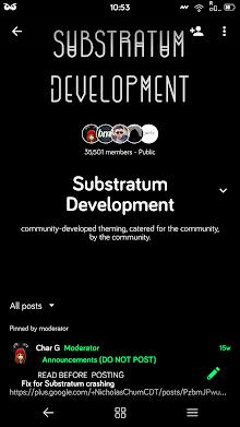 Dark Material Substratum Theme screenshot 3