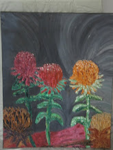 Photo: Night Waratahs Oil 60cmx75cm $175