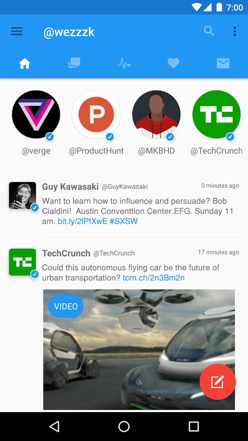 Tucano for Twitter - Beta- screenshot