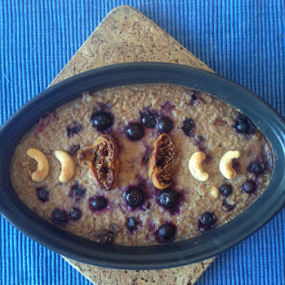Blueberry And Cashew Baked Oatmeal