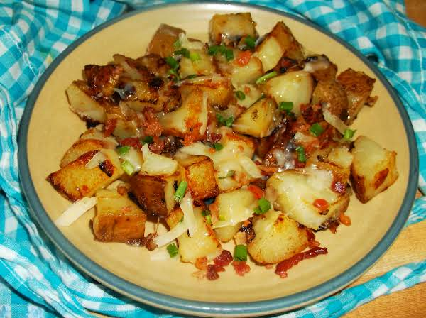 Parm Potatoes (from Leftovers) Recipe