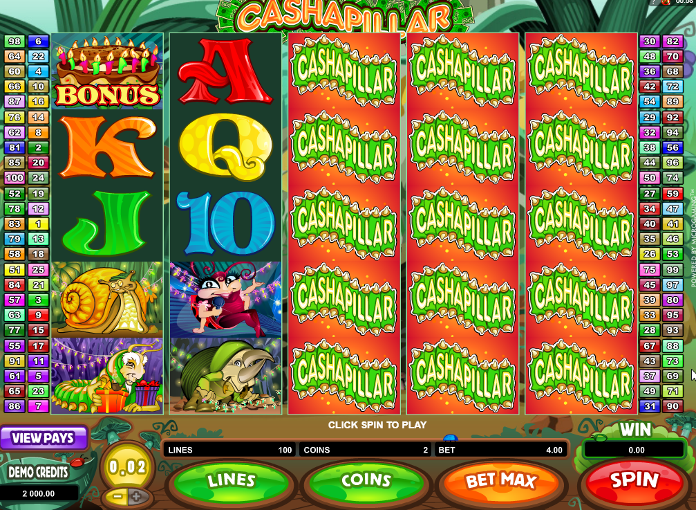 Cashapillar Slots Game Review