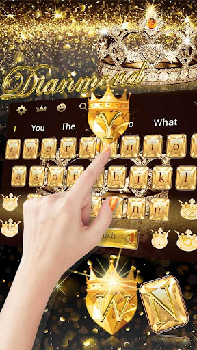 Gold diamond crown Keyboard Theme 10001012 screenshots 3