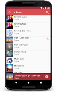 Mp3 Media Player for Android Kitkat - náhled
