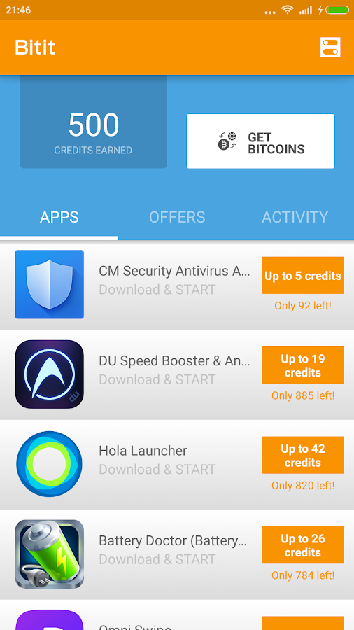تطبيق Bitit لربح عملة بيتكوين من خلال جهازك الاندرويد