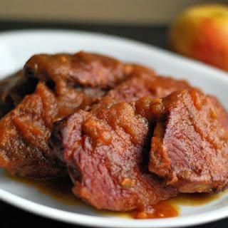 Slow Cooker Apple Butter Pork Chops.