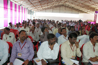 Photo: Attentive hungry church leaders and pastors. Most all of these pastors are working in tribal remote villages of the state of Andhra Pradesh in south India.
