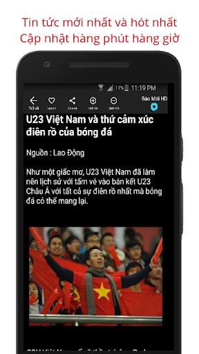 Báo Mới - Doc Bao Moi HD Tin Tuc 24h screenshot 4