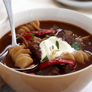 Hearty Goulash Pasta Soup