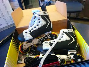 Photo: Two right skates!?