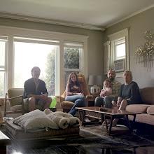 Photo: title: Wendy Denham, Brad, Deborah, Dave & Imogen Hayes, Los Angeles, California date: 2011 relationship: friends, art, met through Nat Hammatt years known: Dave, 20-25, Wendy 0-5