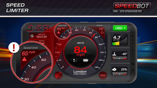 Speedbot. Free GPS/OBD2 Speedometer Apk 2