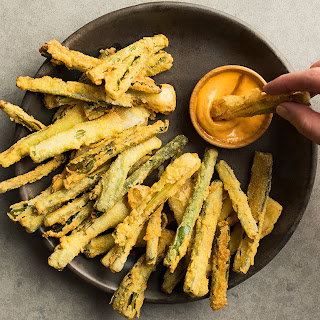 Fried Spring Onions with Calabrian Chile Aioli