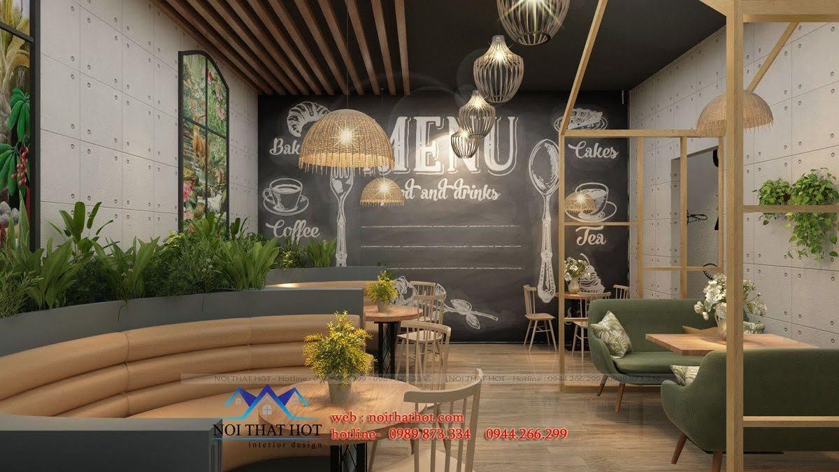 thiết kế cửa hàng cafe