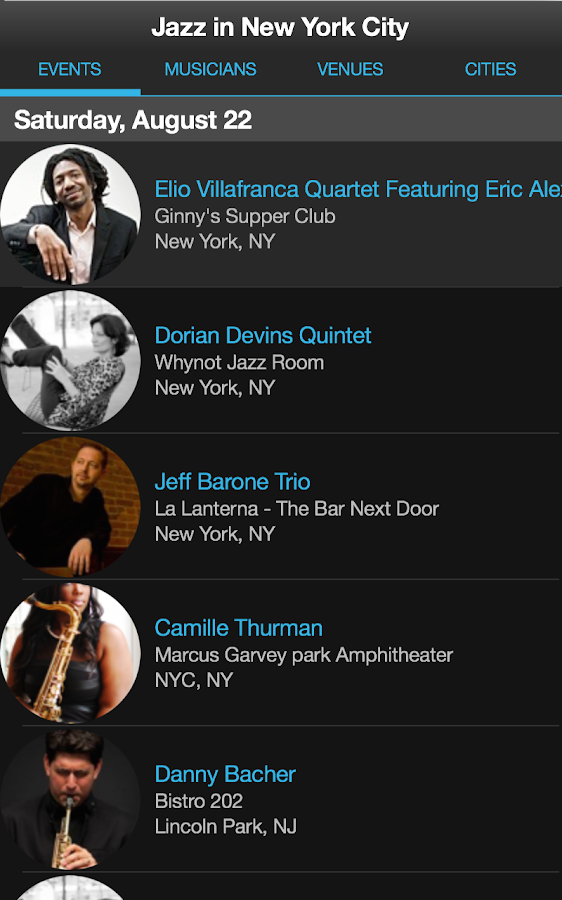 Jazz Near You- screenshot