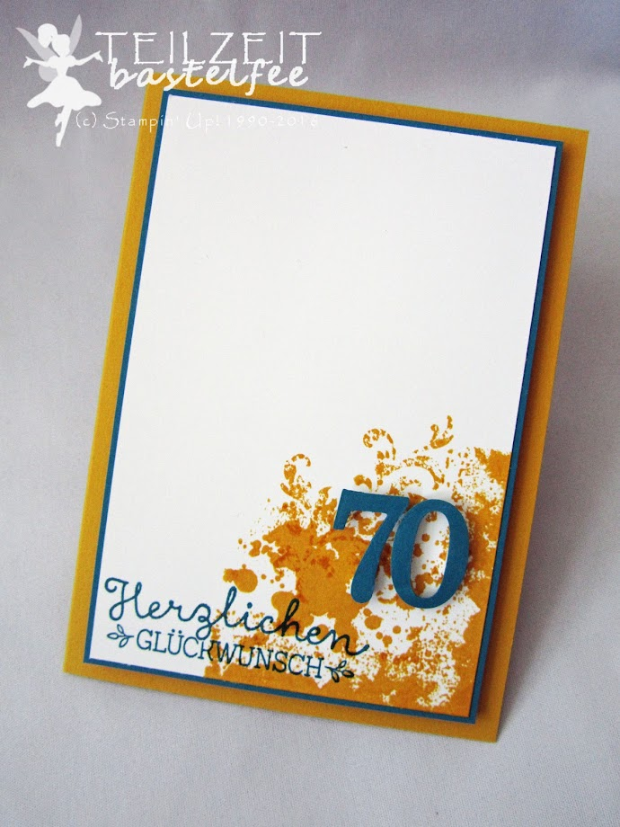 Stampin' Up! - In{k}spire_me #316, birthday, Geburtstag, male card, Männerkarte, 70, Gorgeous Grunge, Wunderbare Worte, Suite Sayings, Timeless Textures