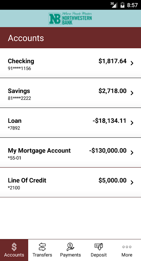 NW Bank Chippewa Falls- screenshot