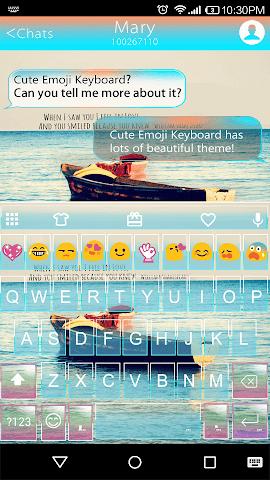 android Quotes Emoji Keyboard Theme Screenshot 0
