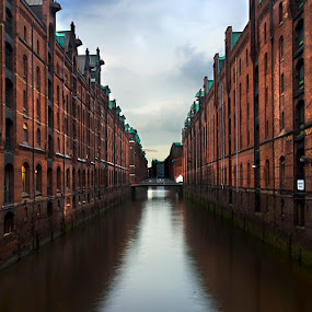 Speicherstadt Hamburg by Grzegorz Gluchy - City,  Street & Park  Historic Districts ( speicherstadt, hamburg, city )
