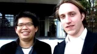 A YouTube thumbnail image of Chad and Steve, the founders of YouTube