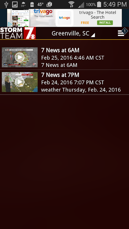 WSPA Weather- screenshot