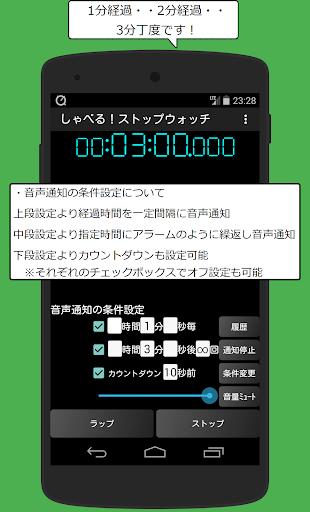 しゃべる!ストップウォッチ&タイマー~音声通知の無料アプリ