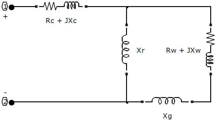 Equivalent circuit of induction furnace